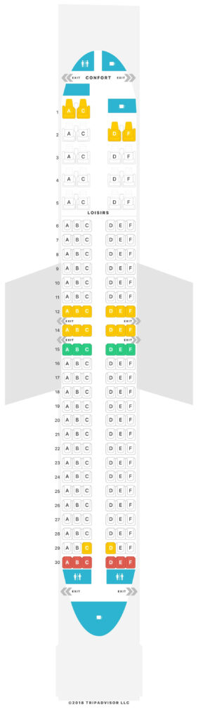 Seat Map and Seating Chart Air Austral Boeing 737 800