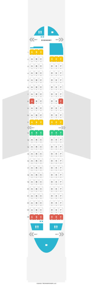 Seat Map and Seating Chart Luxair Boeing 737 700