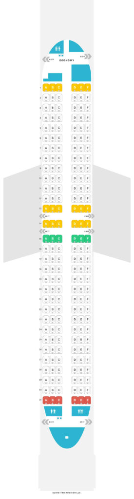 Seat Map and Seating Chart Luxair Boeing 737 800