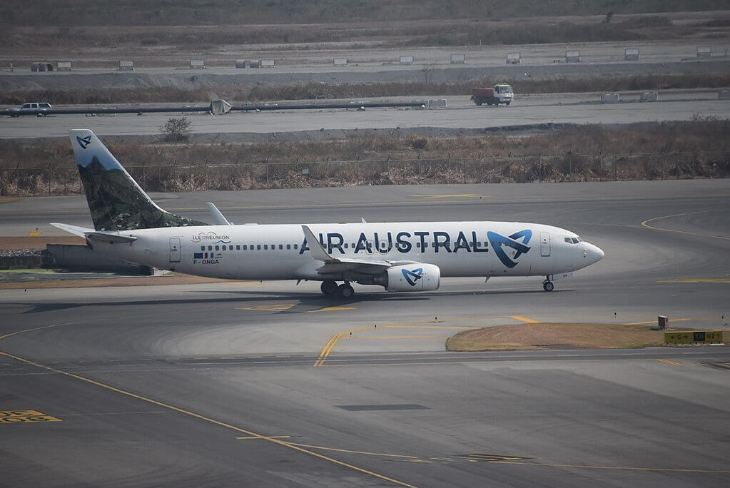 Air Austral F ONGA Boeing 737 800 Marius et Ary Leblond at Suvarnabhumi International Airport Bangkok Thailand