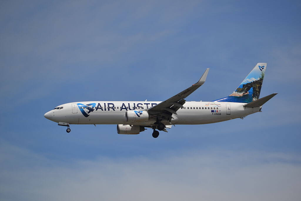 F ONGB Boeing 737 800 of Air Austral at Suvarnabhumi International Airport