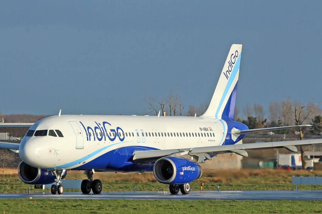 IndiGo Airbus A320 232 M ABIX VT IDQ at Shannon