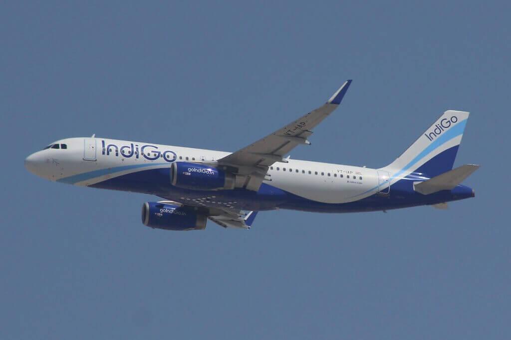 IndiGo Airbus A320ceo VT IAP at Dubai