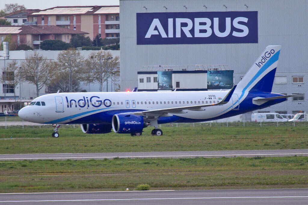 IndiGo Airbus A320neo F WWIK VT IZZ at Toulouse Blagnac