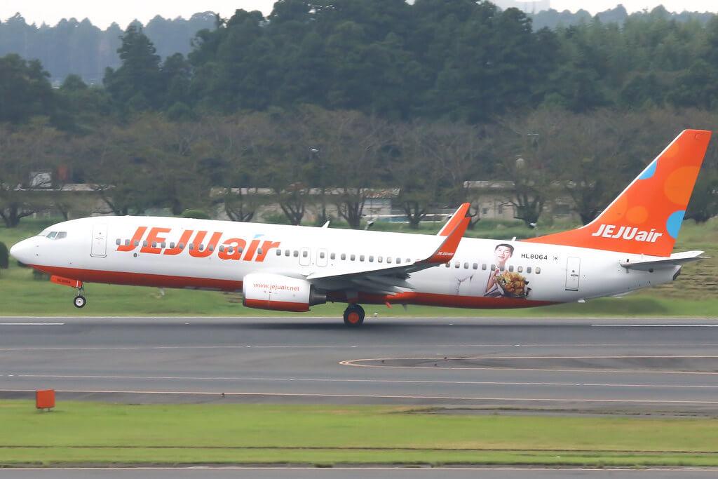 Jeju Air HL8064 Boeing 737 800 at Narita Airport