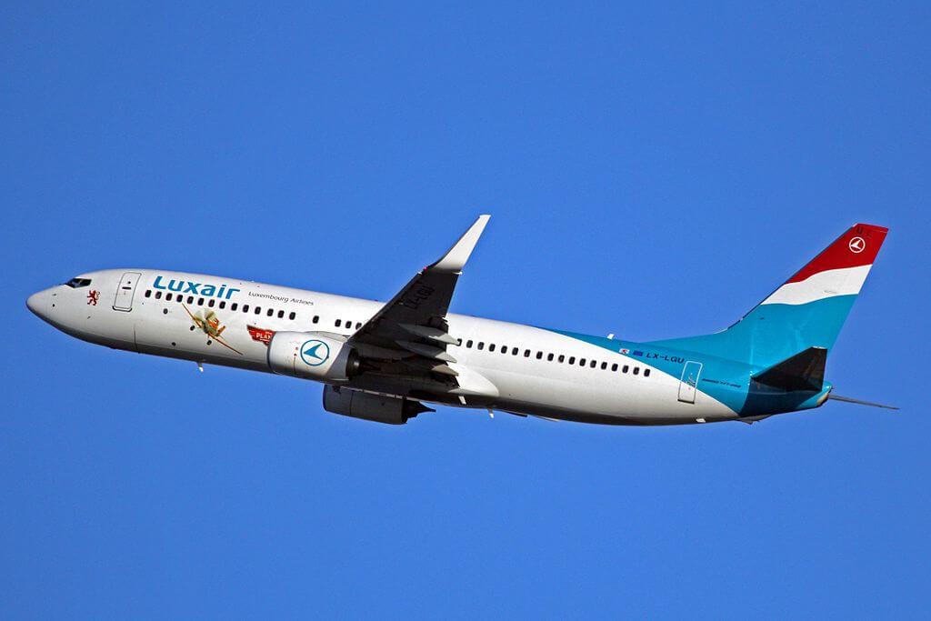 LX LGU B737 8C9W Luxair at Palma de Mallorca Airport