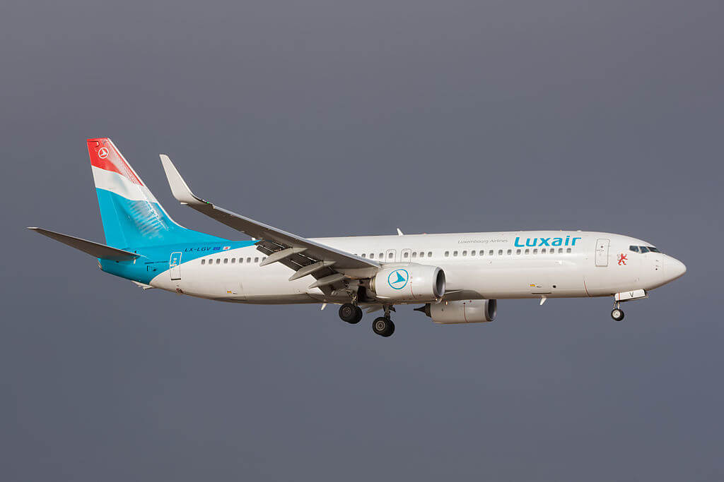 LX LGV Boeing 737 800 of Luxair at Lanzarote Airport