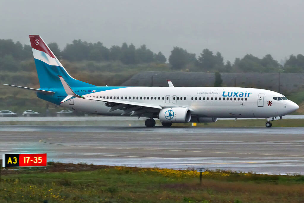 Luxair LX LBA Boeing 737 800 at Porto International Airport