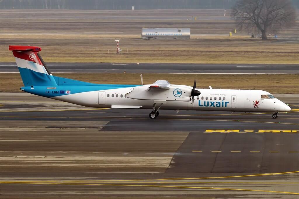 Luxair LX LGM Bombardier Dash 8 Q402 at Milan Malpensa Airport