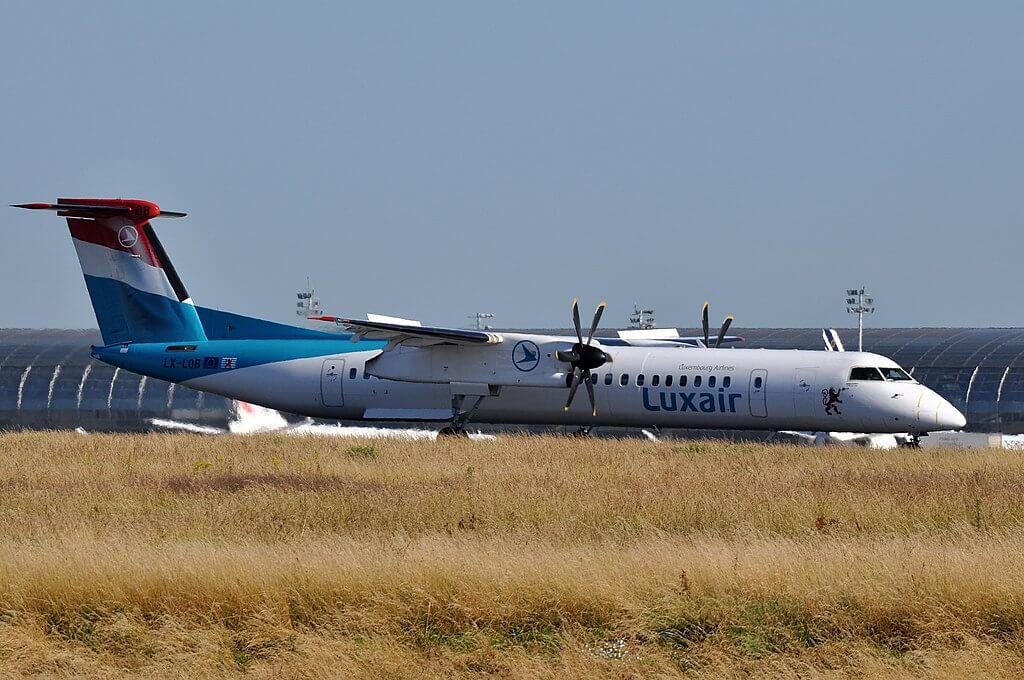 Luxair LX LQB Bombardier Dash 8 Q400 at Nice Cote dAzur Airport
