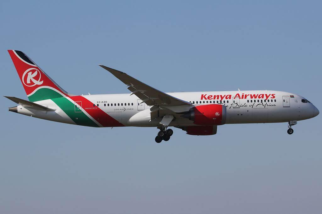 5Y KZD Kenya Airways Boeing 787 8 Dreamliner at Amsterdam Airport Schiphol
