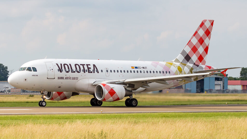 Airbus A319 111 EC MUT Volotea Airlines at Strasbourg Airport