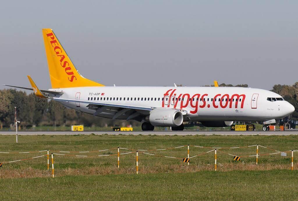 Boeing 737 82R Pegasus Airlines TC ADP Nisa Nur at Fiumicino Airport