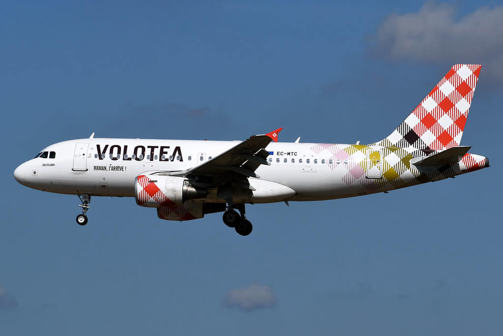 Cielito Lindo EC MTC Volotea Airbus A319 111 at Palma de Mallorca Airport