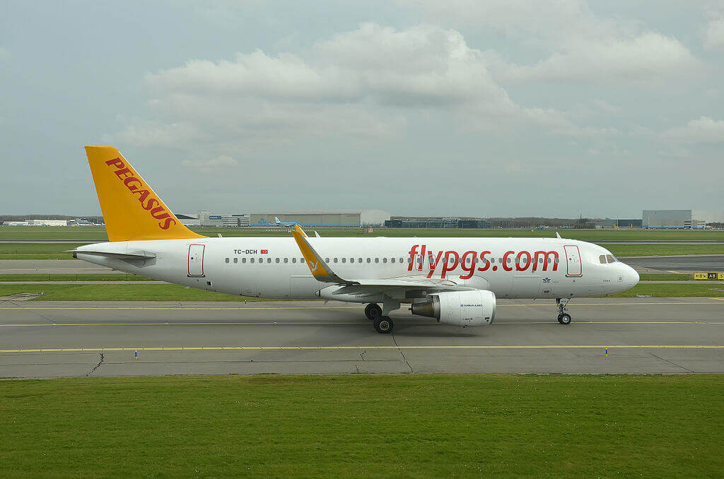 Deren TC DCH Airbus A320 216 Pegasus Airlines at Amsterdam Airport Schiphol