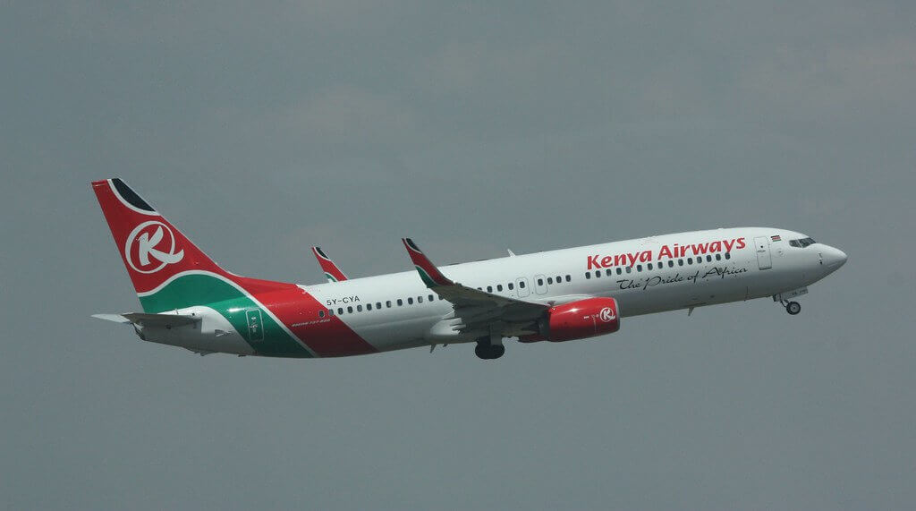 Kenya Airways 5Y CYA Boeing 737 800 at Johannesburg