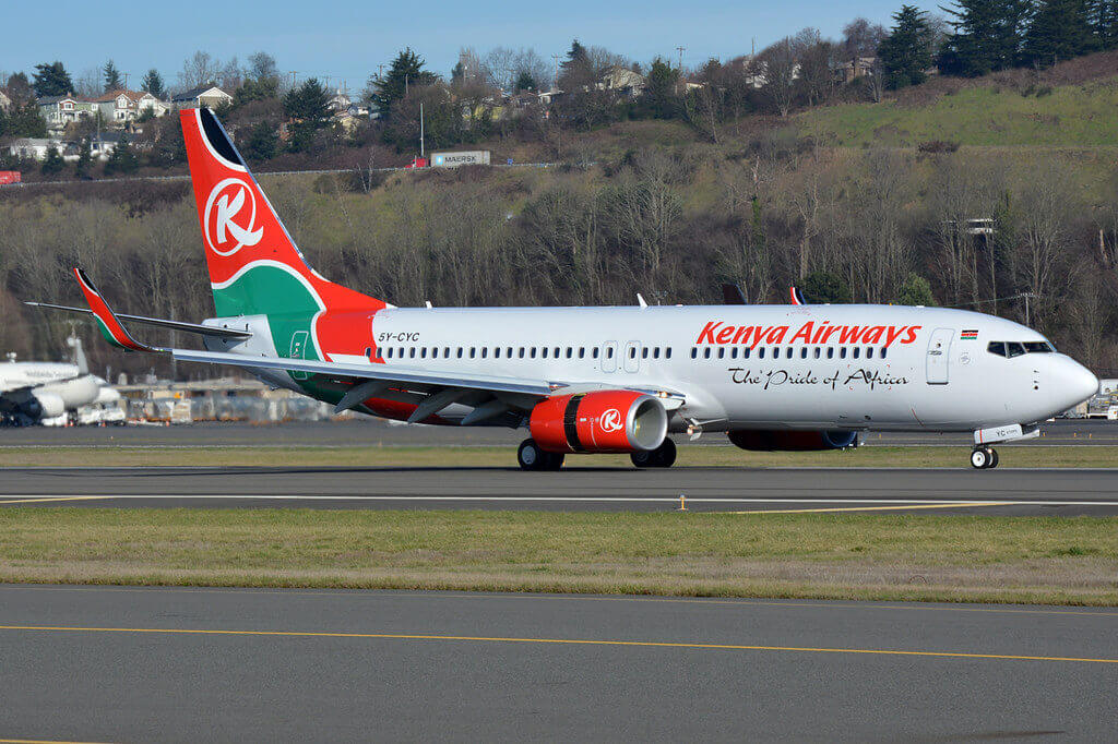 Kenya Airways 5Y CYC Boeing 737 800 at KBFI