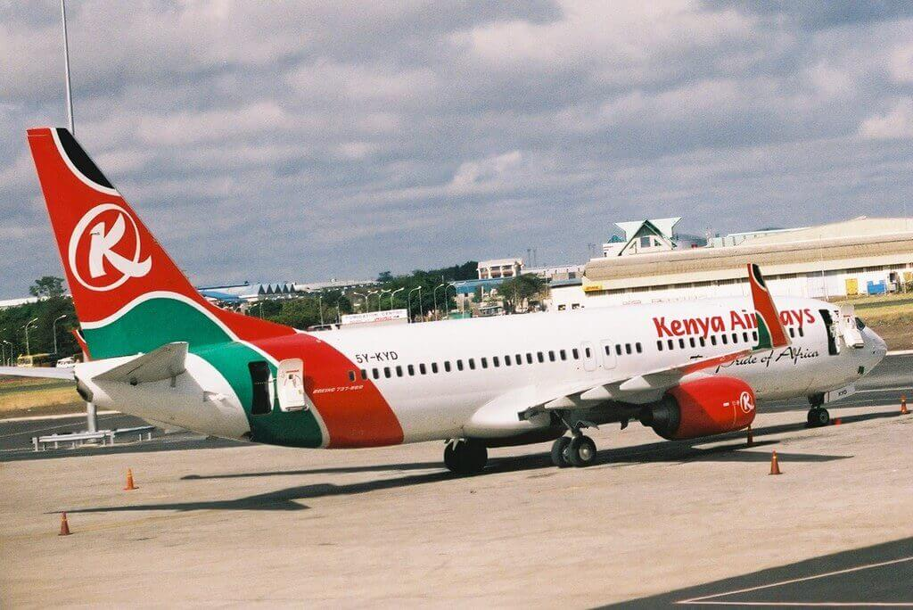 Kenya Airways 5Y KYD Boeing 737 86N at Nairobi Jomo Kenyatta Embakasi