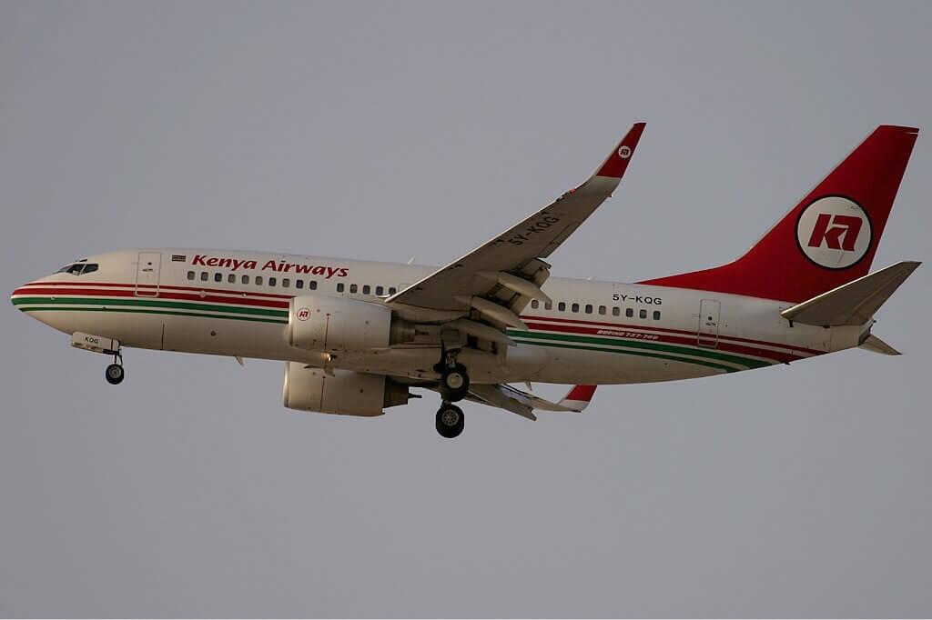 Kenya Airways Boeing 737 700 Reg 5Y KQG