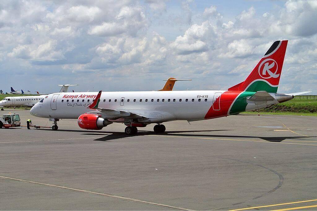 Kenya Airways Embraer ERJ 190 5Y KYS at Jomo Kenyatta International Airport