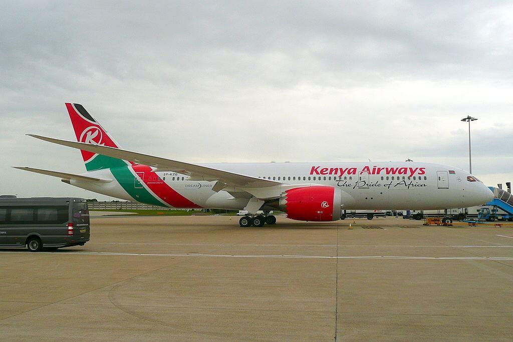 Magical Kenya 5Y KZG Boeing 787 8 Dreamliner of Kenya Airways at London Heathrow Airport