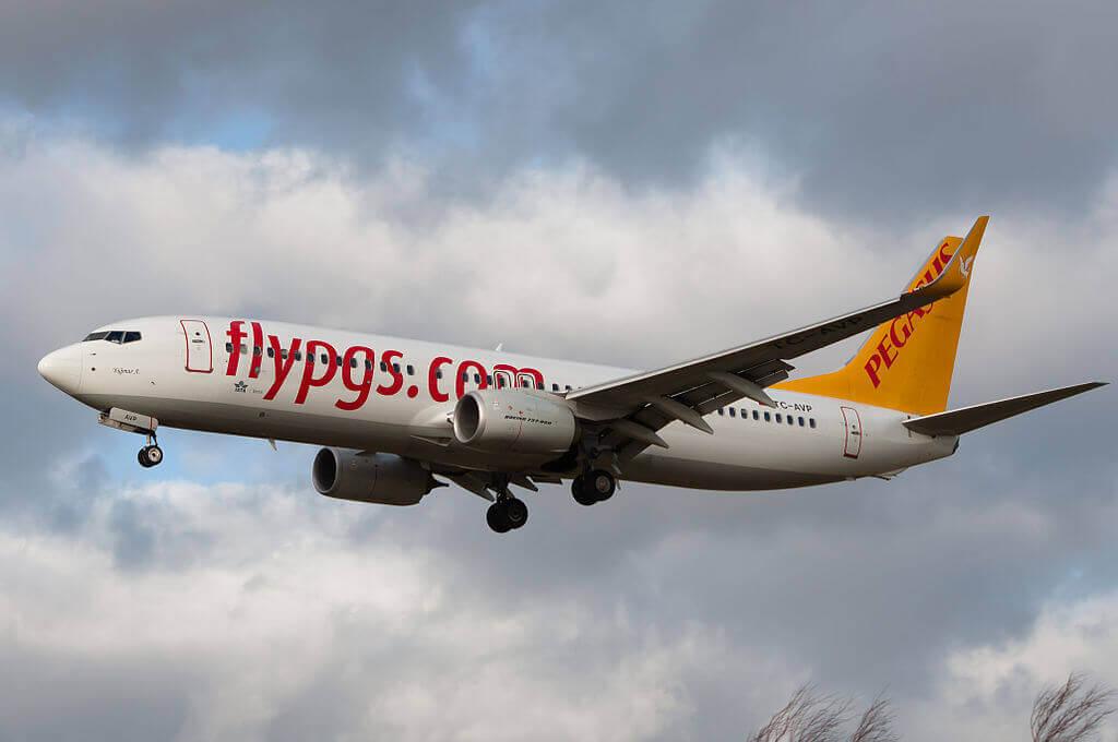 Pegasus Airlines TC AVP Boeing 737 82R Yagmur A at Amsterdam Airport Schiphol