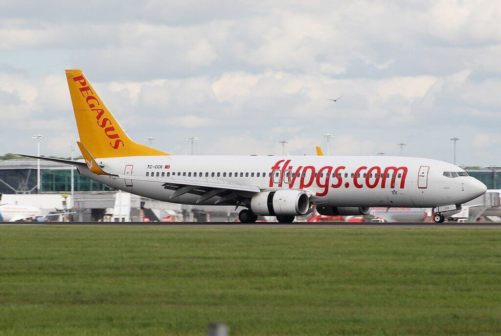Pegasus Airlines TC CCK Boeing B737 82R Huma at London Stansted Airport