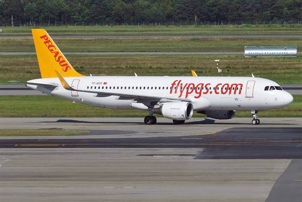 Pegasus Airlines TC DCG Airbus A320 214 Su at Milan Malpensa Airport