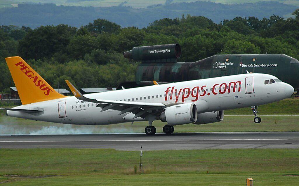 Pegasus Airlines TC NBB Airbus A320 251N Segah at Manchester Airport EGCC