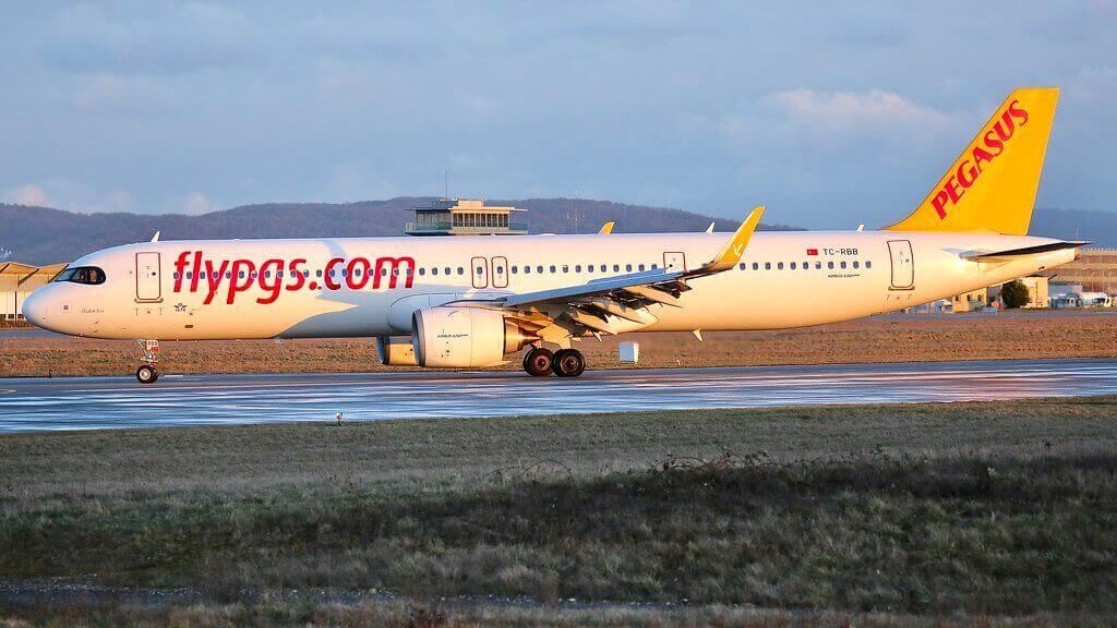 Pegasus Airlines TC RBB Airbus A321neo Ozden Ece at EuroAirport Basel Mulhouse Freiburg