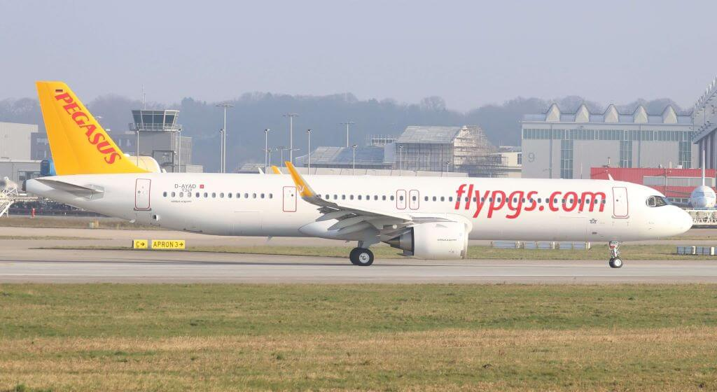 Pegasus Airlines TC RBD Airbus A321neo Azra