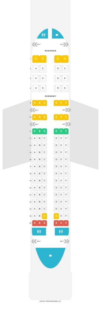 Seat Map and Seating Chart Air Namibia Airbus A319 100