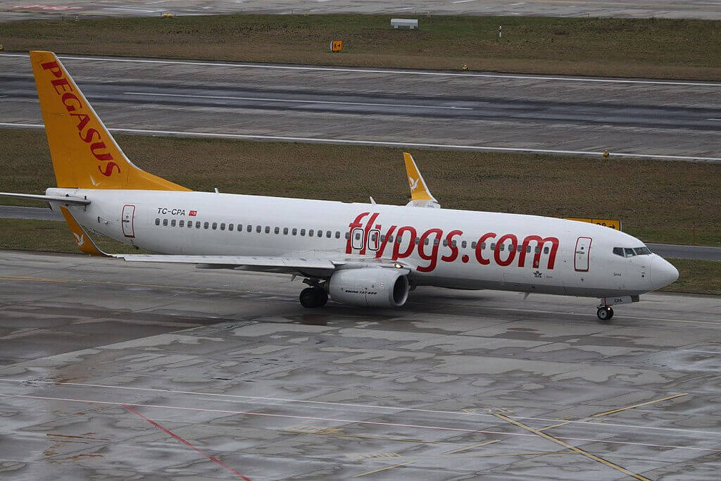 Sena TC CPA Boeing 738WL Pegasus Airlines at Zurich International Airport