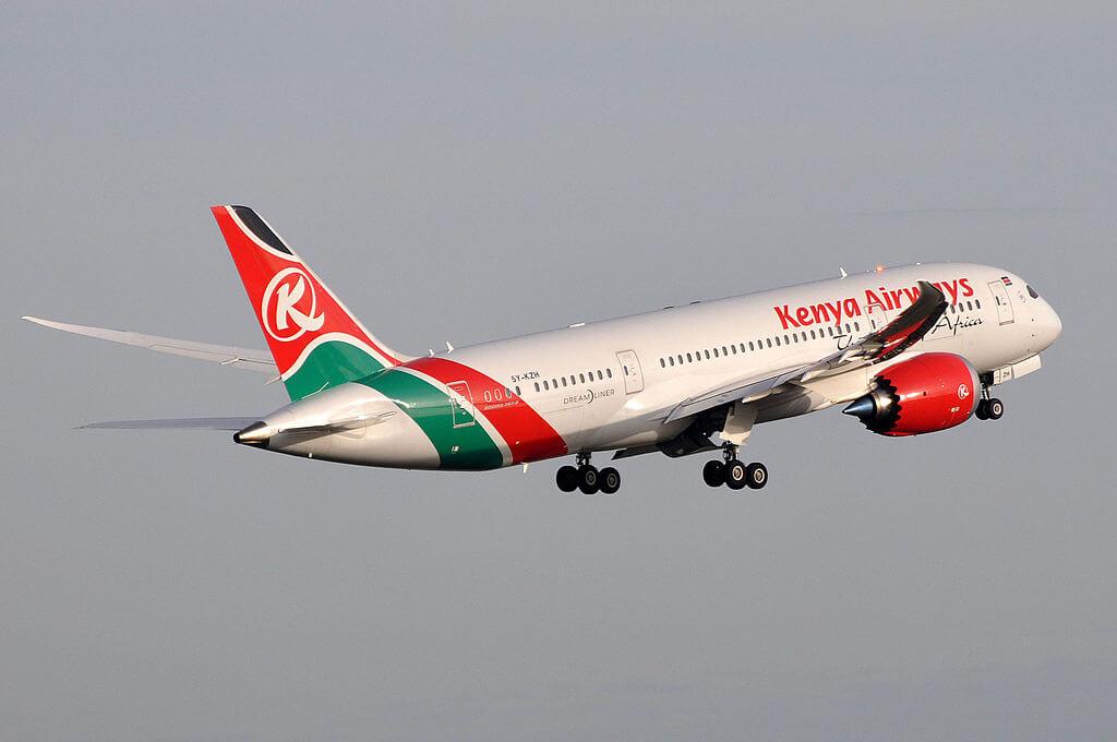 The Aberdare Range 5Y KZH Boeing 787 8 Dreamliner of Kenya Airways at Paris Charles de Gaulle Airport