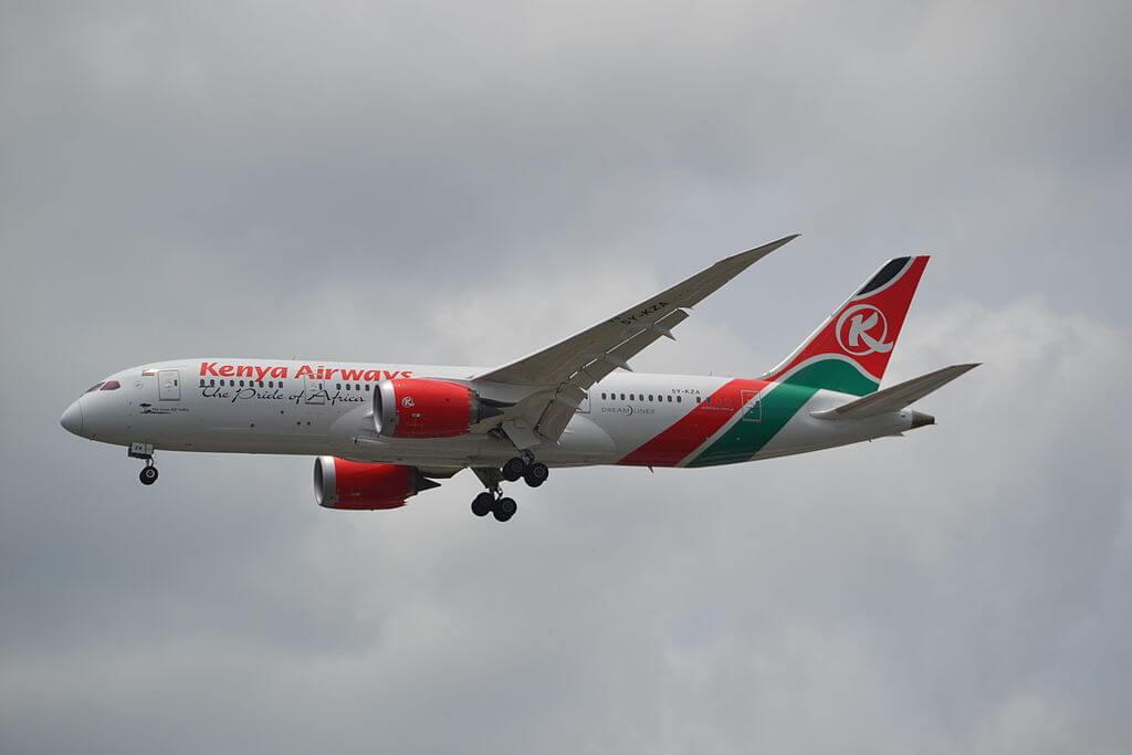 The Great Rift Valley 5Y KZA Boeing 787 8 Dreamliner of Kenya Airways at Suvarnabhumi International Airport