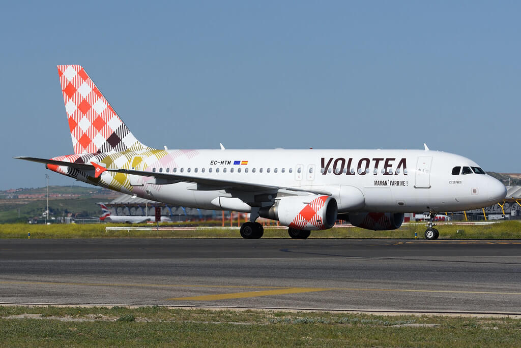 Volotea EC MTM Airbus A319 100 Cest Parti at Madrid Barajas Airport