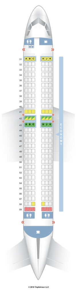 Seat Map and Seating Chart Hong Kong Airlines Airbus A320 200 Economy Class