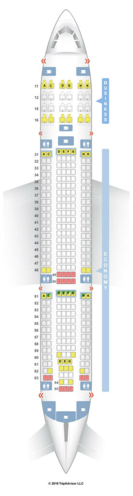 Seat Map and Seating Chart Hong Kong Airlines Airbus A330 200 Layout 332