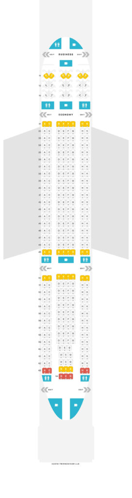 Seat Map and Seating Chart Hong Kong Airlines Airbus A330 200 Layout 33T