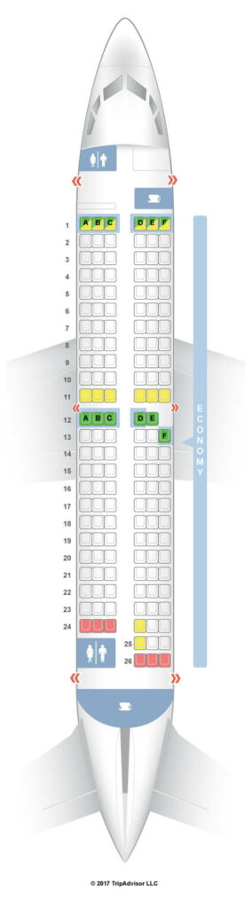 Seat Map and Seating Chart Transavia Boeing 737 700