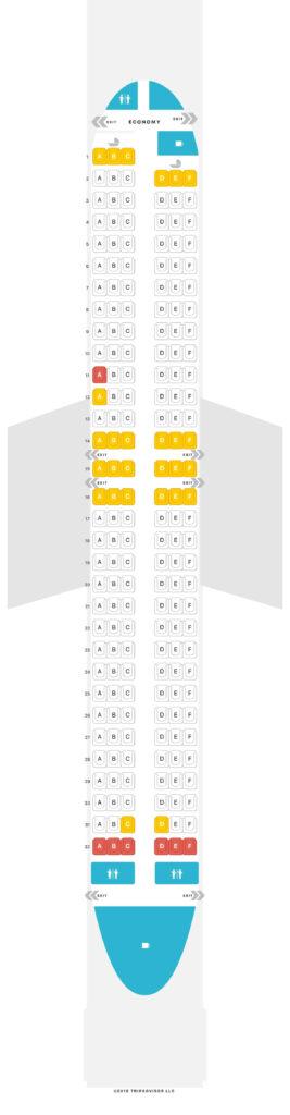 Seat Map and Seating Chart Transavia Boeing 737 800