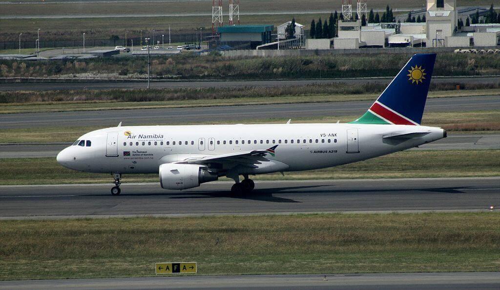 Air Namibia A319 112 V5 ANK at OR Tambo International Airport