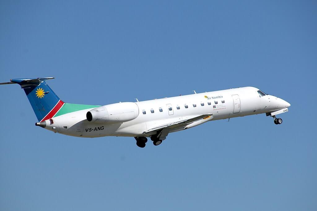 Air Namibia V5 ANG Embraer ERJ 135 at Windhoek Eros FYWE