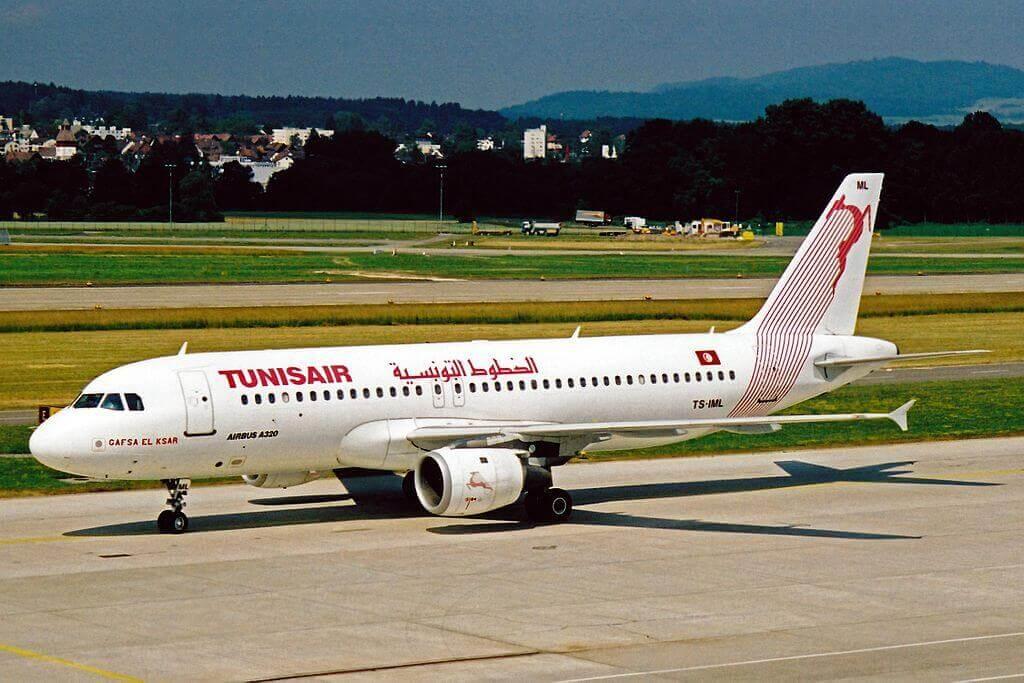 Airbus A320 211 Tunis Air TS IML Gafsa El Ksar قفصة القصر at Zurich International Airport