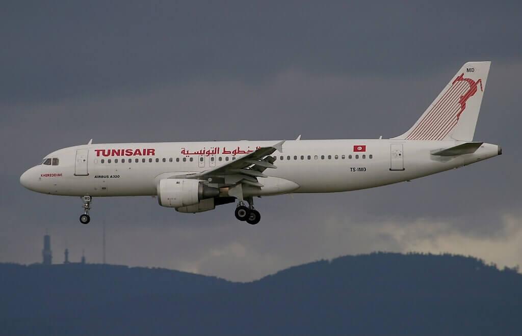 Airbus A320 211 Tunisair TS IMD Khereddine خير الدين at Frankfurt Airport