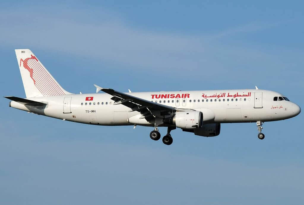 Airbus A320 211 Tunisair TS IMH Ali Belhaouane علي البلهوان at Fiumicino Airport