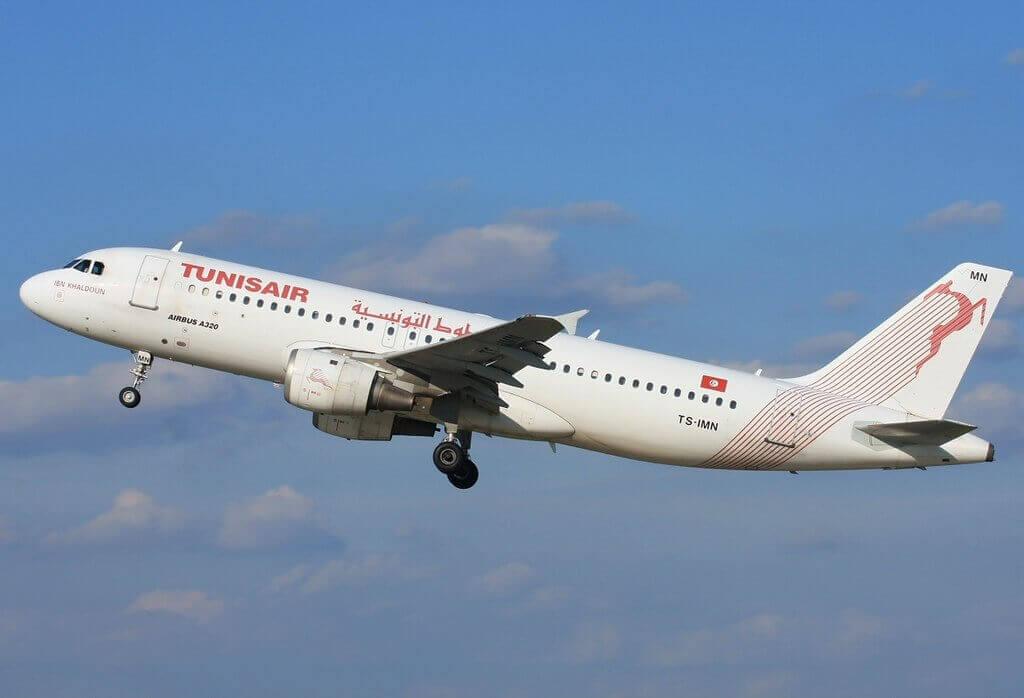 Airbus A320 211 Tunisair TS IMN Ibn Khaldoun ابن خلدون at Prague Ruzyne Airport