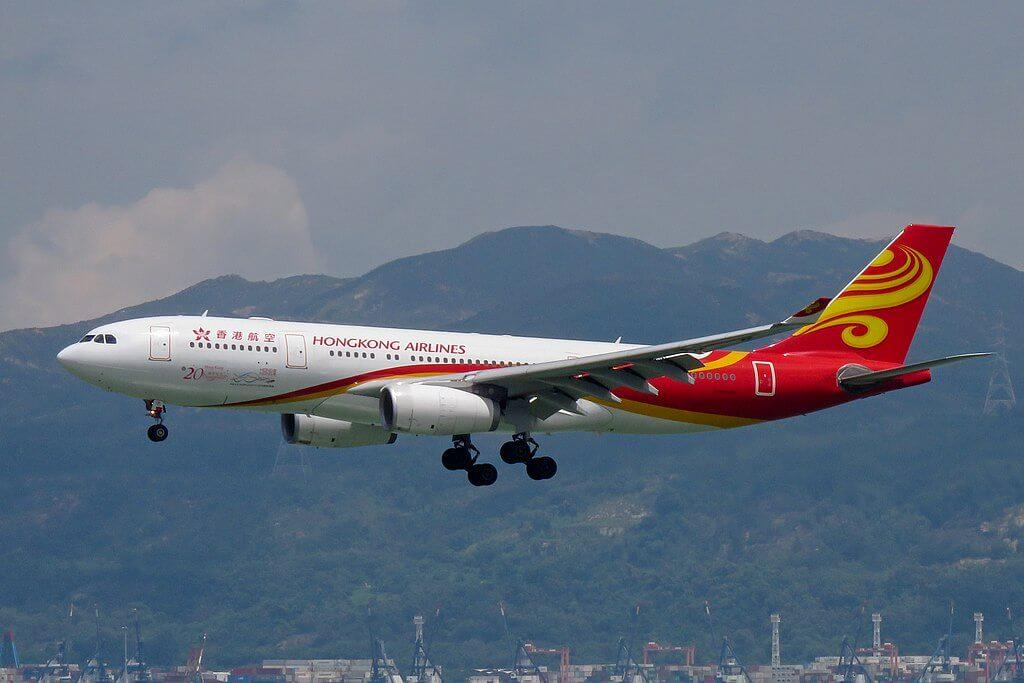 Airbus A330 200 B LNL Hong Kong Airlines at Hong Kong International Airport
