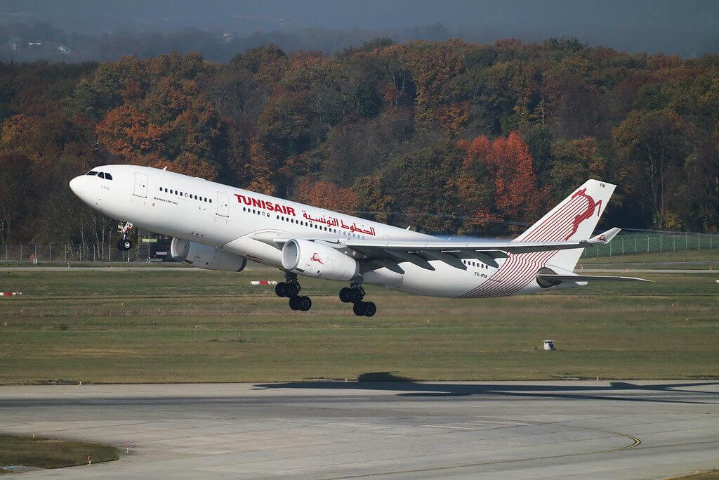Airbus A330 243 Tunisair TS IFM Tunis تونس at Geneva Airport