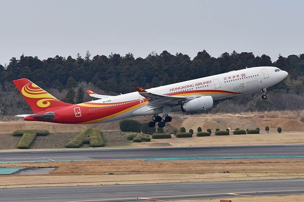Airbus A330 343 B LNQ Hong Kong Airlines at Narita International Airport